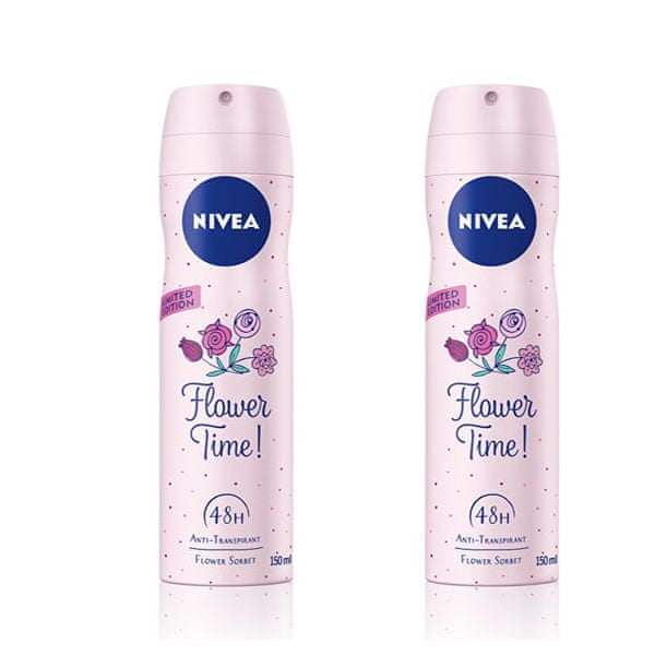 Nivea Antiperspirant ve spreji Flower Time 150 ml 2 ks