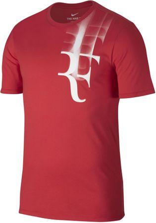 Nike koszulka tenisowa RF M NKCT TEE Red XXL
