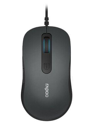 Rapoo žična optična miška N3610, siva