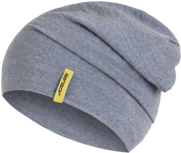 Sensor Čepice Merino Wool šedá L