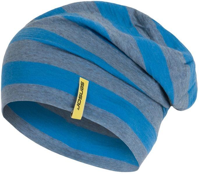 Sensor Čepice Merino Wool modrá pruhy L
