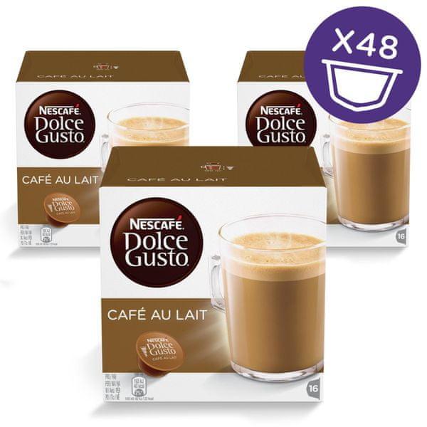 Nescafé DOLCE GUSTO Café au Lait, 16 kapslí v balení, 3 balení