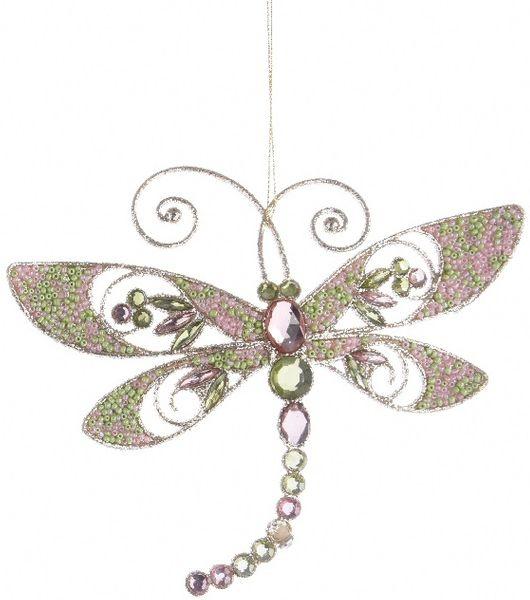Kaemingk Dekorativní ozdoba vážka světlá