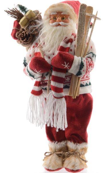 Kaemingk Figurka, Santa Claus s lyžemi 30 cm