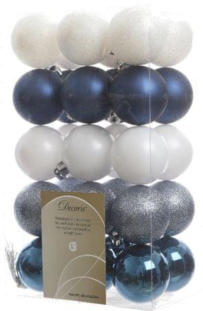 Kaemingk Božični okraski 30 kosov modra, bela
