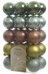 Kaemingk Božični okraski 30 kosov zelen različne