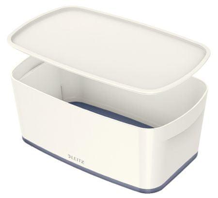 Box úložný s víkem Leitz MyBox S bílý/šedý