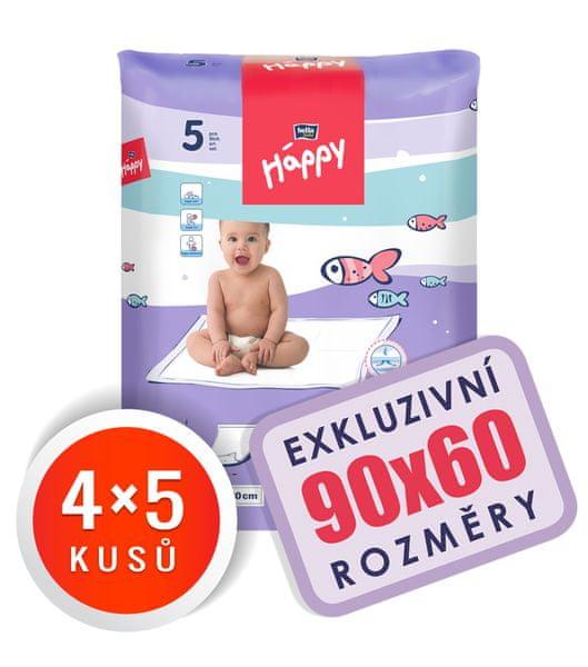 Bella Happy Dětské přebalovací podložky 90x60 cm - 20 ks