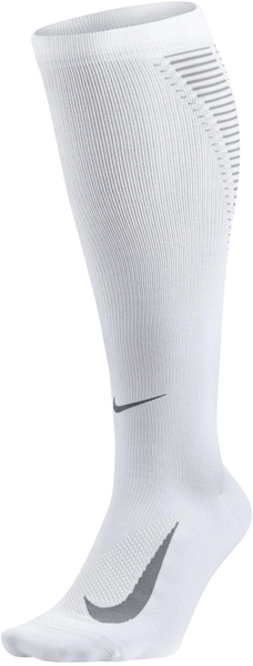 Nike Elite Compression Over-The-Calf Running Sock White 39-42