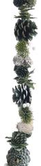 Kaemingk Přírodní girlanda zelené šišky 150 cm