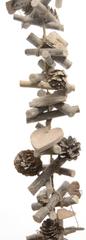 Kaemingk Přírodní girlanda dřevo a šišky 100 cm