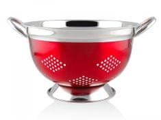 Banquet nerjavni cedilnik AVANZA 23,5 cm, rdeč