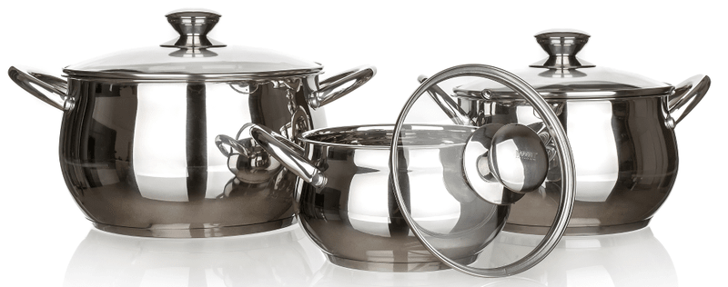 Banquet Sada nerezového nádobí RONDEL, 6 ks