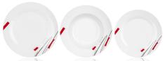 Banquet zestaw talerzy Geometric, 18 szt.