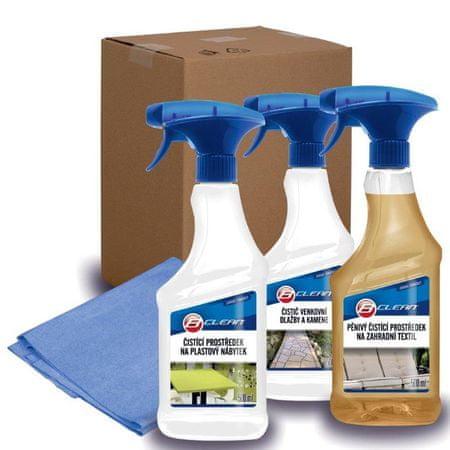 B-Clean Balíček záhrada starostlivosť o plastový nábytok