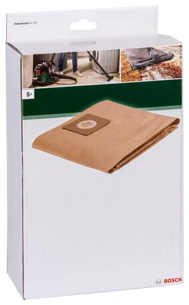 Bosch Papírový sáček na prach pro Vac20,5 ks
