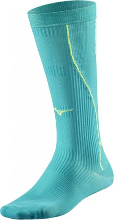 Mizuno nogavice Compression Socks/TileBlue Safety Y, turkizne, L