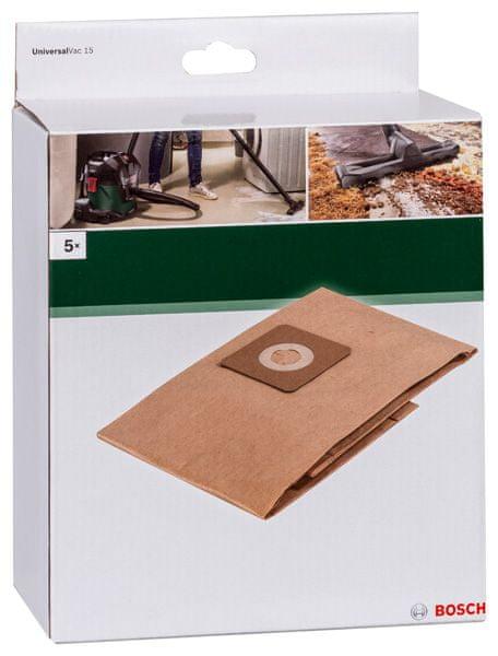 Bosch Papierové vrecko na prach pre Vac15, 5ks