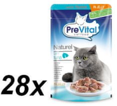 PreVital mokra hrana za mačke Naturel, tuna v želeju (28 x 85 g)
