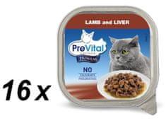 PreVital Premium eledel, ragu báránnyal és májjal 16 x 100 g