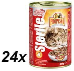 Propesko Sterile macskaeledel, Csirkés, 24 x 415g