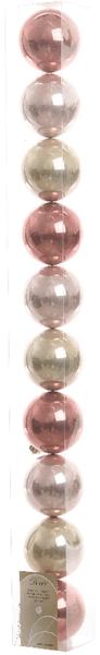 Kaemingk Ozdoby 10 ks mix růžová, stříbrná
