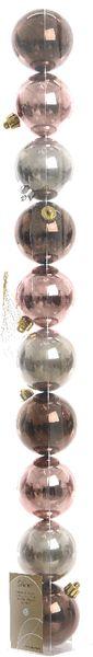 Kaemingk Ozdoby 10 ks mix růžová, hnědá