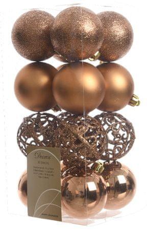 Kaemingk božični okraski različne vrste 16 kosov rjava