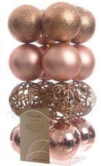 Kaemingk božični okraski različne vrste 16 kosov barva šampanjca