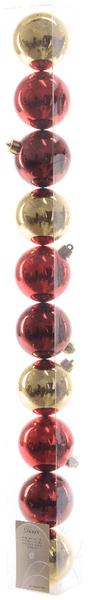 Kaemingk Ozdoby 10 ks mix červená, zlatá