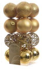 Kaemingk božični okraski različne vrste 16 kosov zlata