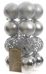 Kaemingk božični okraski različne vrste 16 kosov srebrna