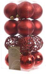 Kaemingk božični okraski različne vrste 16 kosov rdeča