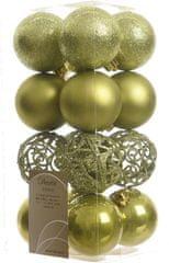 Kaemingk božični okraski različne vrste 16 ledeno zelena