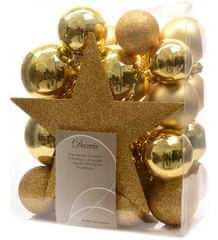 Kaemingk okraski 33 kosov vključno s špico zlata