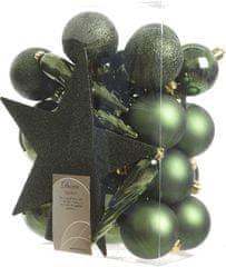 Kaemingk okraski 33 kosov vključno s špico temno zelena