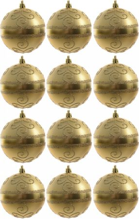 Kaemingk dekorativen okrasek zlat 12 kosov
