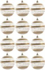 Kaemingk dekorativen okrasek prozoren zlat 12 kosov