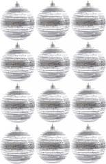 Kaemingk dekorativen okrasek srebrn 12 kosov