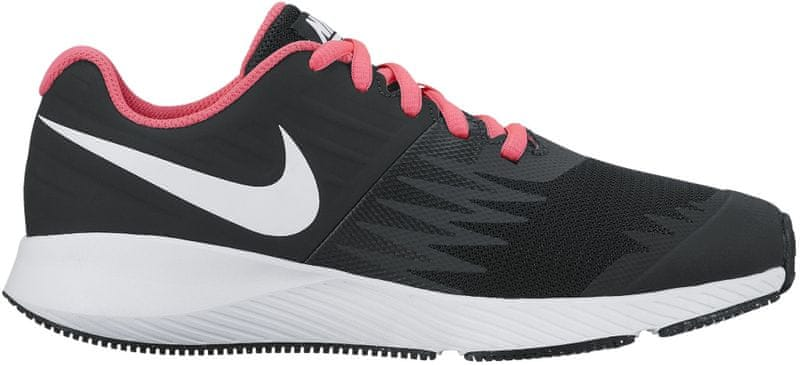 Nike Girls'Star Runner (GS) Running Shoe Black/Pink 37.5