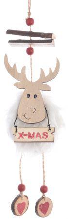 Kaemingk Vánoční figurka sob bílý 32 cm