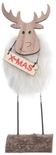 Kaemingk Vánoční figurka sob bílý 25 cm