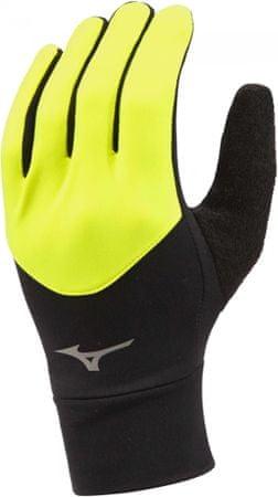 Mizuno rękawiczki do biegania Warmalite Glove Safety Yellow/Black M