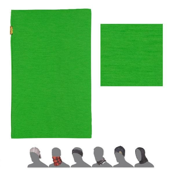 Sensor Tube Merino Wool šátek multifunkční zelená