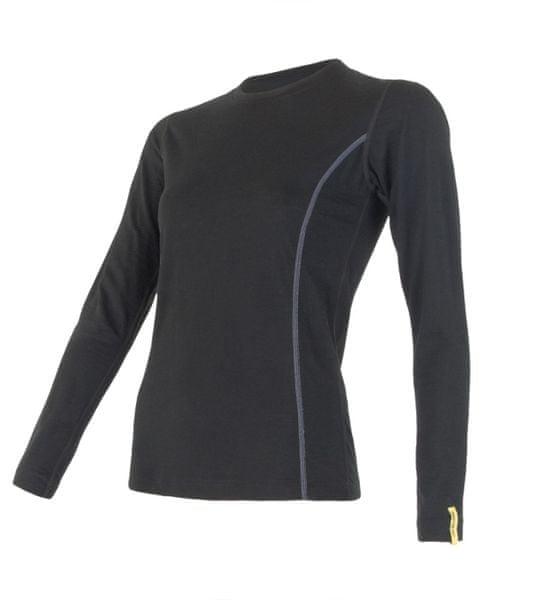 Sensor Merino Wool Active dámské triko dl.ruk. černá S