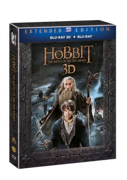 Hobit: Bitva pěti armád - prodloužená verze 3D+2D (5BD) - Blu-ray