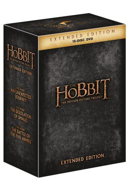 Hobit 3D+2D prodloužená verze - Kompletní kolekce 1.-3. (15BD) - Blu-ray