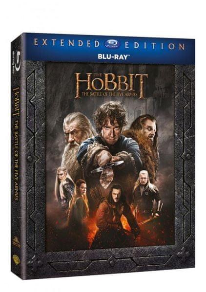 Hobit: Bitva pěti armád - prodloužená verze (3BD) - Blu-ray