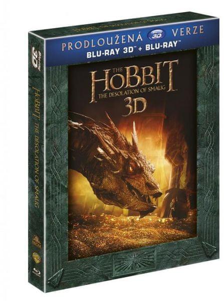Hobit: Šmakova dračí poušť - prodloužená verze 3D+2D (5BD) - Blu-ray