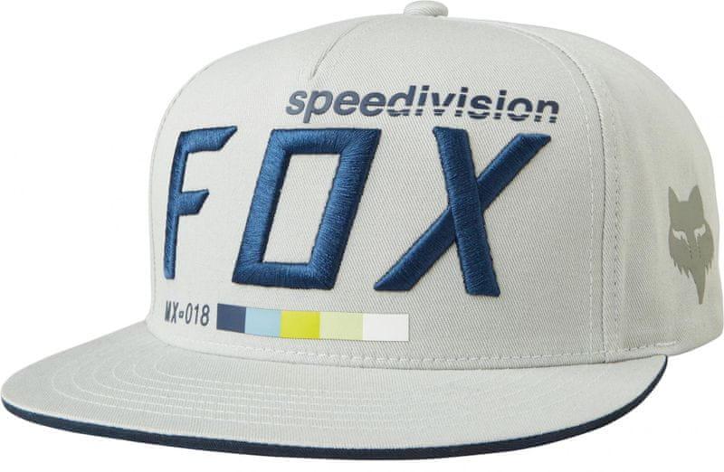 FOX pánská snapback kšiltovka Draftr uni šedá f23c7fba16